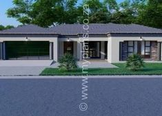 5 Bedroom House Plan MLB-1815D – My Building Plans South Africa 6 Bedroom House Plans, My House Plans, Metal Roof Houses, House Roof, Contemporary House Plans, Modern House Plans, My Building, Building Plans, House Plans South Africa