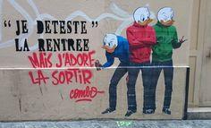 Alors qu'un de ses collagesdans les rues de Paris était en train d'être effacé par labrigade anti-graffiti, le street artist Combo, aka Culture Kiknapper