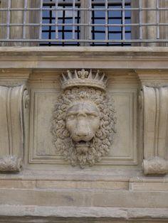 Palazzo Pitti - Crowned Lion Motif