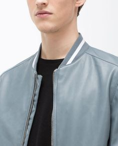 Image 6 of FAUX LEATHER BOMBER JACKET from Zara