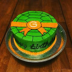 Ninja Turtle Birthday Cake 4 th birthday ninja turtle Pinterest