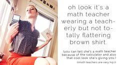 Calamity Co Dance: ChEEky PoP - eShakti shirt at werk - math teacher work wear