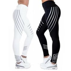 5c88f9fce4aaec ITFABS New Arrivals Sexy Womens Sports Gym Stretch Striped Yoga Pants  Running Fitness Leggings AthleticTrousers. Hashtag Simplify