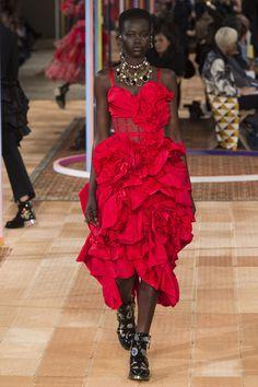 Alexander McQueen Dress Spring 2018 Collection
