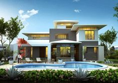 Catlamb Home Design – Due to some reasons, people find it really frustrating to create 3D modern exterior house designs. What they didn't know is the fact that they can find plenty of them online today. Many sites are more than happy to provide you with free 3D modern exterior house designs. Some might charge you a little for their premium contents,