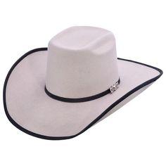 21709d5c2eef2 Cuernos Chuecos Grey Brick Crown Cowboy Felt Hat