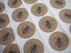 Stickers Envelope Seals Bees Vintage Style Party by bljgraves, $5.00