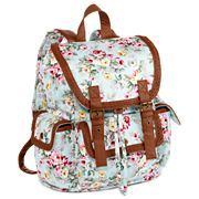 Flower pattern canvas backpack