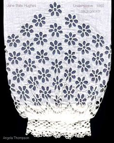 More Broderie... losse mouwen - Broderie Anglaise 1860 undersleeves