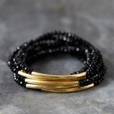Golden Bar Bracelets, Set of 5 Glass Jewelry, Diy Jewelry, Beaded Jewelry, Jewelry Bracelets, Jewelry Accessories, Handmade Jewelry, Jewelry Design, Jewellery, Golden Jewelry