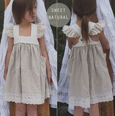 Size 2T Well Dressed Wolf Aunt Heart Dress + Bloomers in Sweet Natural - Rare #WellDressedWolf