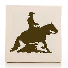 Happy Trails Cowboy Fabric Canvas Art