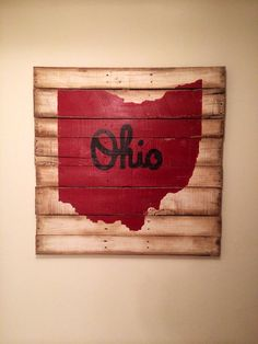 Script Ohio Wall Hanging on Etsy, $40.00