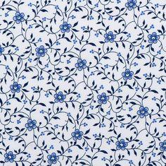 Delftsblauwstof 100 % katoen. Geschikt voor o.a. Kleding, Kinderkleding, schorten, beddengoed, decoratie.