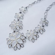 Filigree Necklace no. 2 Silver Necklace created by Moira Lime on Artful Home