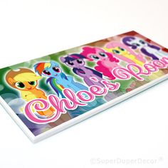 MY+LITTLE+PONY+-+Friendship+Is+Magic+-+Group+-+Bedroom+Door+Plaque+-+Personalised+with+any+girls+name