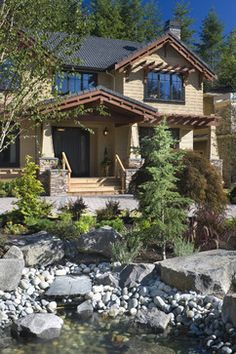 Craftsman Porch Design, Pictures, Remodel, Decor and Ideas - page 5 Craftsman Porch, Craftsman Exterior, Craftsman Bungalows, Craftsman Style, Craftsman Columns, Craftsman Decor, Ranch Exterior, Craftsman Houses, Exterior Remodel