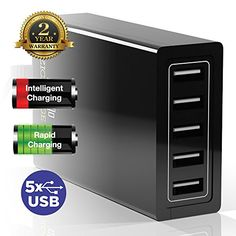 USB Charger Provides High Power Rapid Charge For Cellphone, iPhone, iPad, Galaxy, Android And More - Powerful Smart USB Hub Charger is Great for Travel, Home and Office - 5 Port, 50W 10A, Portable, Reliable And Safe Ezisoul http://www.amazon.com/dp/B00LP6HJHU/ref=cm_sw_r_pi_dp_4lTpvb125K5W3