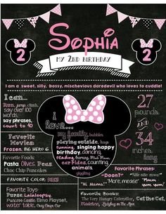 Cartel de cumpleaños 2do cumpleaños pizarra por LizzyCakeDesigns
