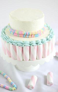 Sprinkle Bakes: Marshmallow-Candy Swirl Cake