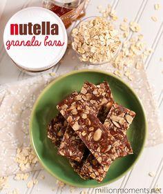 Nutella granola bar recipe