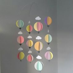 Thank you so much for creating this wonderful addition to my soon to arrive baby's nursery. The colours used and the way it moves are beautiful. Assembly Instructions were fab. Balloon Garland, The Balloon, Hot Air Balloon, Balloon Decorations, Balloons, Baby Shower Themes, Baby Shower Decorations, Travel Themes, Party Packs