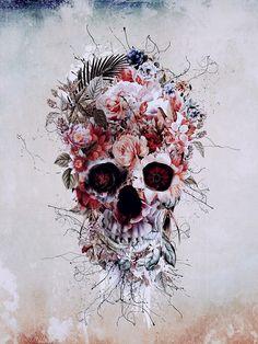 Floral Skull RPE by RIZA PEKER