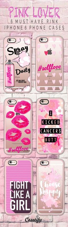 6 must have pink iPhone 6 protective phone case designs | Click through to see more iphone phone case ideas >>> www.casetify.com/... #quote | Casetify #iphone6case,