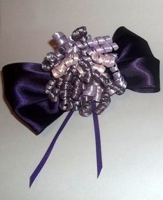 Purple Bow & Lavender With Pink Cork Screw Bow Tie  | Jenstardesigns - Accessories on ArtFire