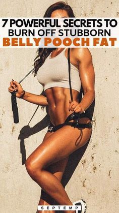 Have you grown tired of your stubborn belly pooch fat? Then make use of these 7 secret tricks that will enhance your weight loss and finally burn off your belly fat without investing lots of hours in the gym! Reduce Belly Fat, Lose Belly Fat, Lose Fat, Training Apps, Fitness Models, Babe, Ripped Girls, Belly Pooch, Crossfit Athletes