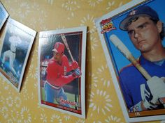 Baseball Card Garland (11.5 ft.), Vintage Trading Card Bunting, Nursery, Birthday, Bedroom, Shower, Wedding, Party Decoration. Photo prop on Etsy, $15.00