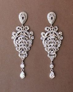 Crystal Chandelier Bridal Earrings, Wedding Earrings, Bridal Accessories, Wedding Jewelry EMMA