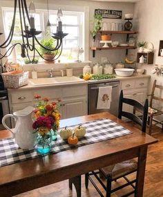Cozy Kitchen, Kitchen Redo, Kitchen Layout, Country Kitchen, New Kitchen, Kitchen Dining, Kitchen Remodel, Cottage Kitchens, Home Kitchens