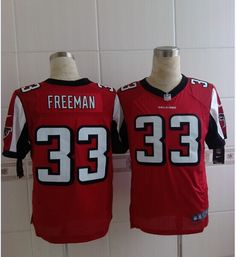 Men's NFL Atlanta Falcons #33 Devonta Freeman Red Elite Jersey