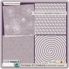 Quality DigiScrap Freebies: October 31st {Vellum} freebie from Kristin Aagard