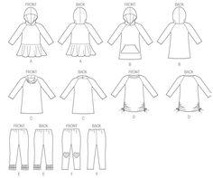 M6785 | Children's/Girls' Dresses and Leggings | Girls/Boys | McCall's Patterns  (Sizes 3-6, 7-14)