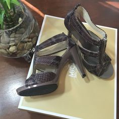 ✨SOLD✨MK Berkley T-Strap Color Cinder, embossed leather MICHAEL Michael Kors Shoes