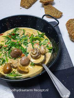 Milanese champignons in room | KoolhydraatarmRecept.nl