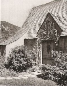 Rare Photos of the Lost French Village of Hollywood in the ~ vintage everyday French Cottage, Cozy Cottage, American Mansions, Los Angeles Hollywood, 1920s House, San Luis Obispo County, Vintage California, Southern California, Hollywood Homes