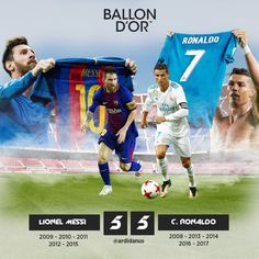 Ballon D,Or Messi Barcelona Vs C. Ronaldo Real Madrid  Wallpaper Football