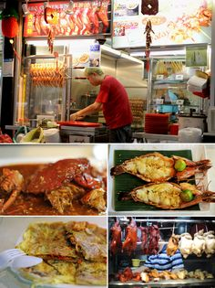 Going back to Singapore to a Hawker center to eat some ridiculously delicious food