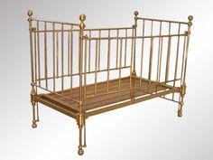 antique brass baby crib