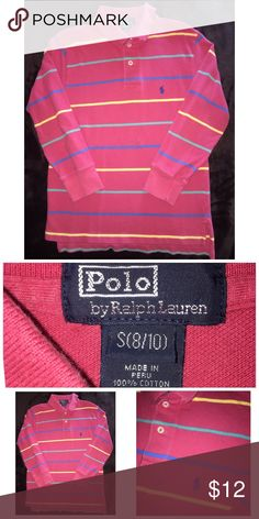 Ralph Lauren LS Polo Pre•loved Ralph Lauren LS Polo Size 8/10 100% Cotton Shows slight piling from normal wear Good condition  91217P Ralph Lauren Shirts & Tops