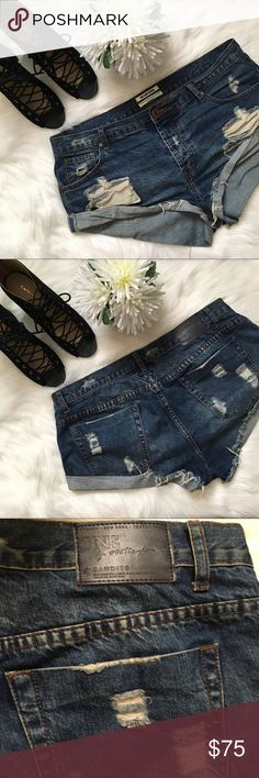 One Teaspoon Bandit Shorts On trend destroyed Bandit shorts. Perfect for festivals or everyday wear. Excellent used condition. One Teaspoon Shorts Jean Shorts