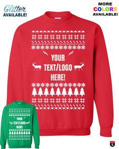 Personalized Christmas crewneck sweater, Custom sweatshirt perfect gift winter fashion Christmas ugly sweater glitter Unisex sizes by on Etsy Crewneck Sweater, Ugly Sweater, Ugly Christmas Sweater, Lettering, Winter Fashion, Crew Neck, Glitter, Unisex, Sweatshirts