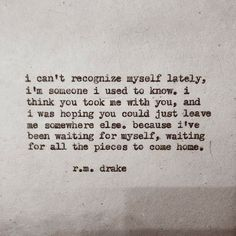 """rmdrk: """" by Robert M. Drake Beautiful chaos pre-orders are now available through my etsy. The link is on my bio. Official release date 181 pgs. Pre-orders will be shipped """" Robert M Drake, R M Drake, Rm Drake Quotes, Quotes To Live By, Me Quotes, Hurt Quotes, Qoutes, Author Quotes, Book Quotes"""