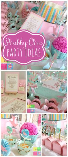 A lovely shabby chic girl baptism party with pastel treats and decorations! See more party planning ideas at CatchMyParty.com!