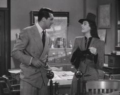 His girl friday (USA, 1940) - Directed by Howard Hawks - Starring Cary Grant, Rosalind Russell.