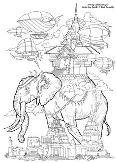 """Free Coloring Page from the soon to be released Adult Coloring Book: """"A Tad…"""