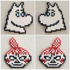Bilderesultat for moomin knitting pattern Hama Beads Design, Hama Beads Patterns, Beading Patterns, Loom Beading, Knitting Charts, Knitting Patterns, Cross Stitch Charts, Cross Stitch Patterns, Pixel Beads